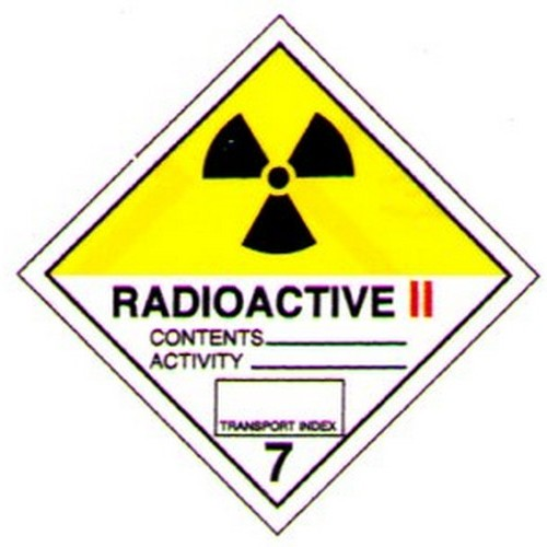 Hazchem Radioactive 2 Label