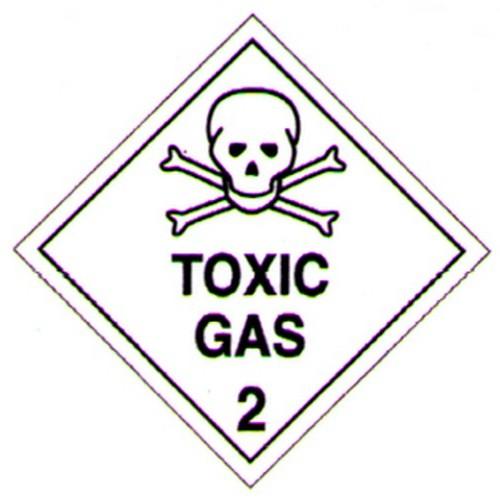 Hazchem Toxic Gas Labels