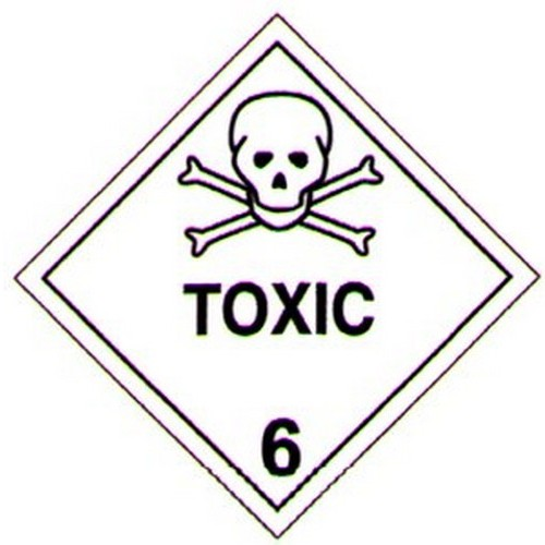 Hazchem Toxic Label