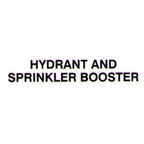 HYDRANT SPRINKler BOOSter Door Label