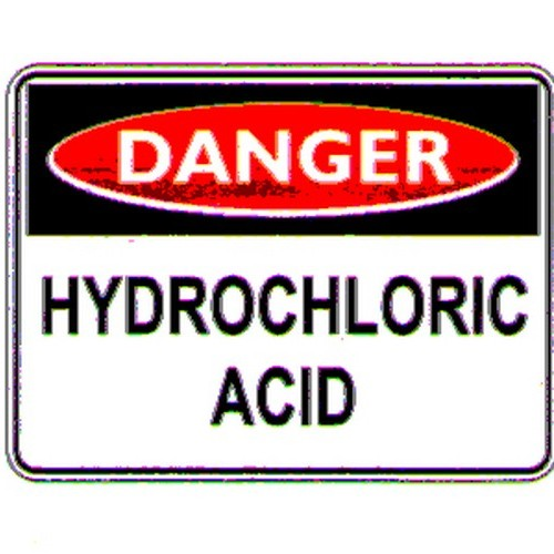 Danger Hydrochloric Acid Sign