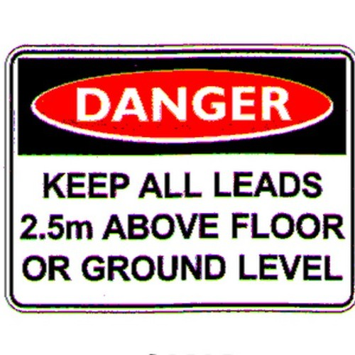 Danger Keep All Leads Sign