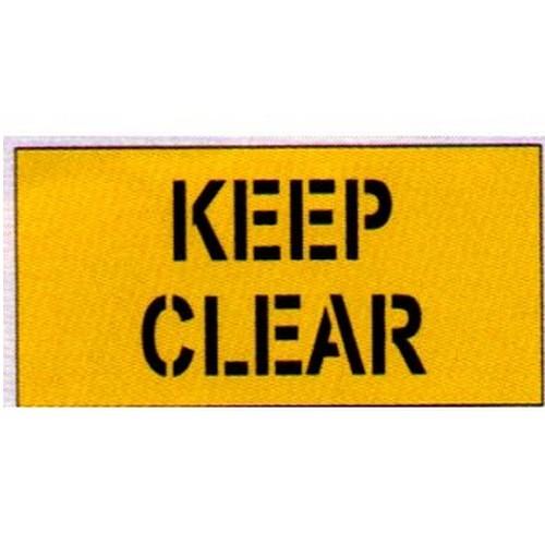 Keep Clear Car Park Stencil