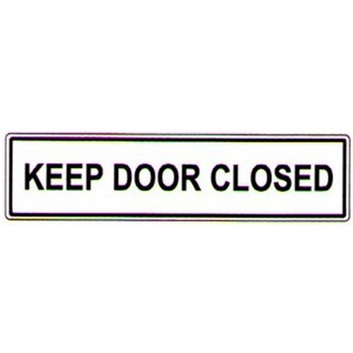 Keep Door Closed Label
