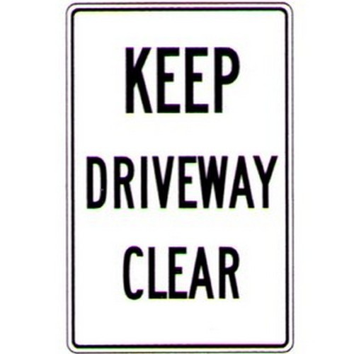 Keep Driveway Clear Sign