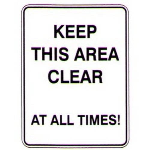 Keep This Area Clear At Sign