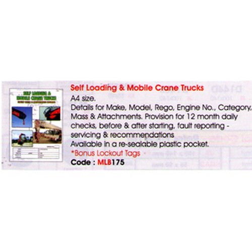 Load&MOB Crane Trucks Log Book