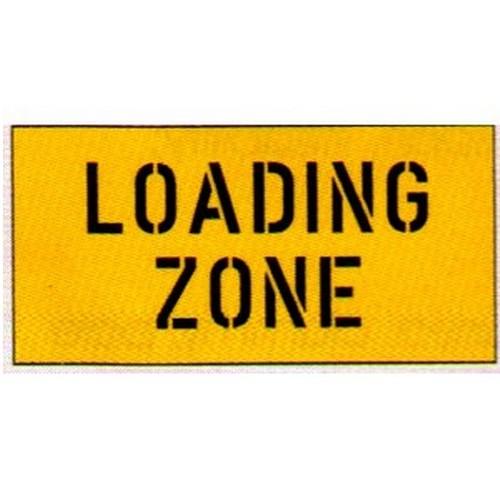 Loading Zone Car Park Stencil