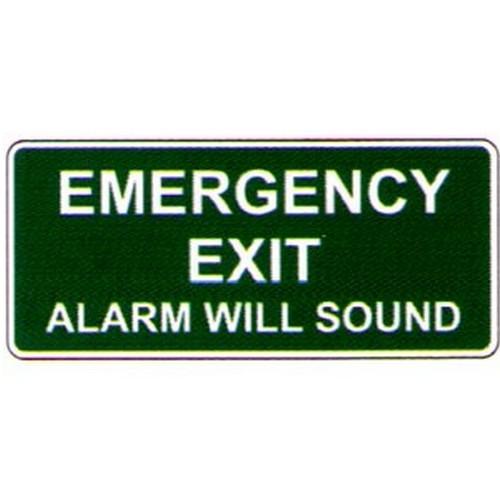 Luminous Emergency Exit Alarm Label