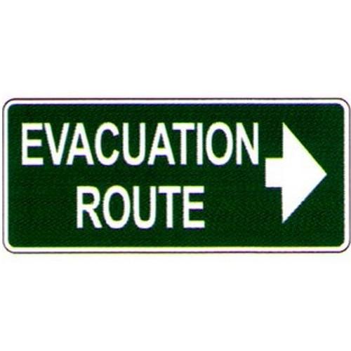 Luminous Evac Route Sign