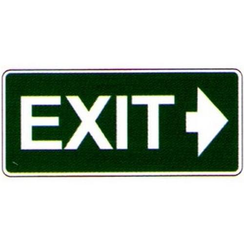 Luminous Exit Right Arrow Label