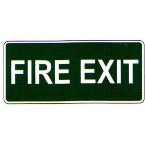 Luminous Fire Exit WG Label
