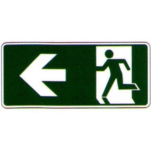 Luminous Left Arrow Running Man Label