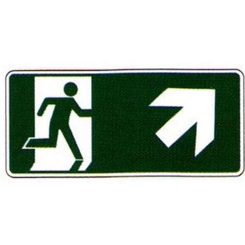 Luminous Right Up Arrow Running Man Label