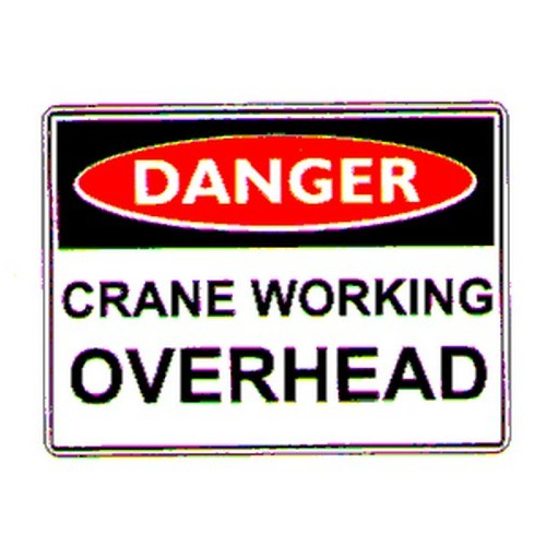 Danger Crane OHead Sign