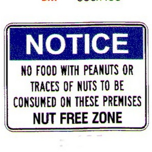 Notice No Food With Peanuts Sign