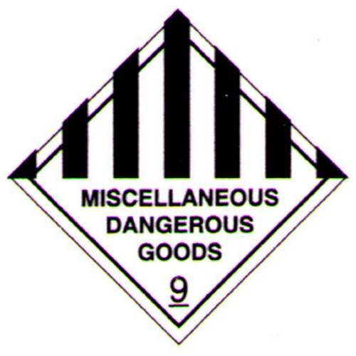 Miscellaneous Dangerous Goods Sticker