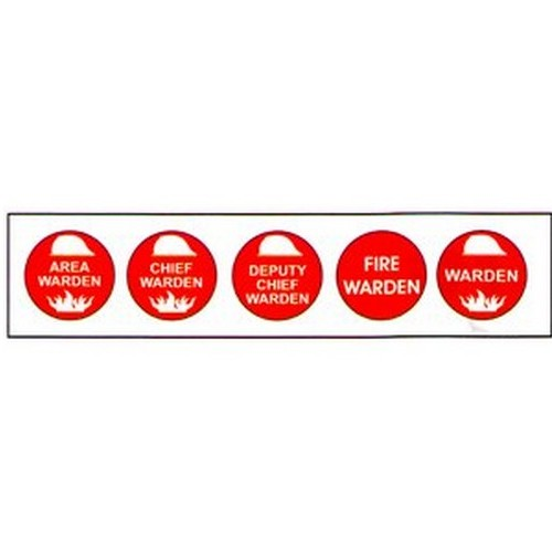 Mixed Fire Hard Hat Labels