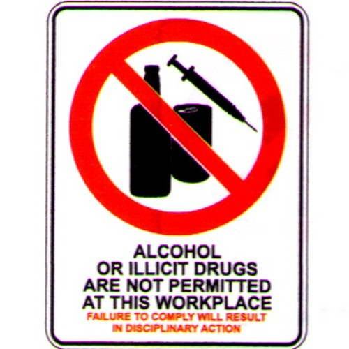 Alcohol Or Ellicit Drugs Sign