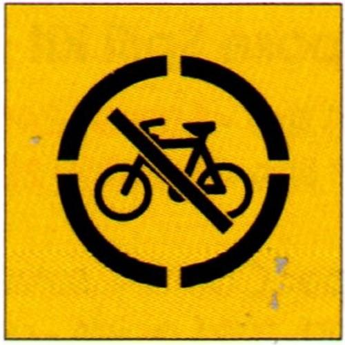 No Bycycles Symb Stencil
