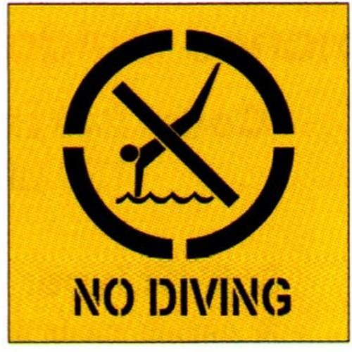 No DivingSymbol Stencil