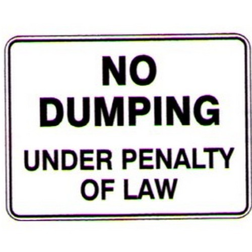 No Dumping Under Penalty Sign