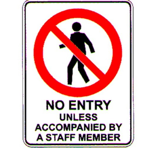 No-Entry-Staff-Member--Sign