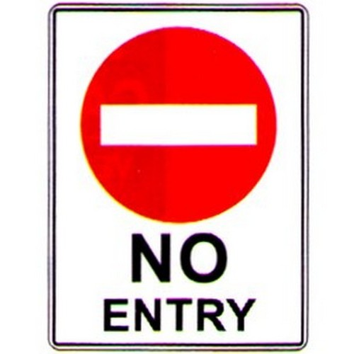 No Entry With Symbol Sign