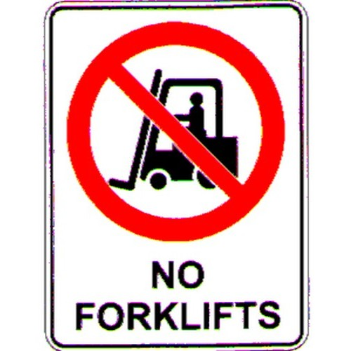 No Forklifts Symbol Sign