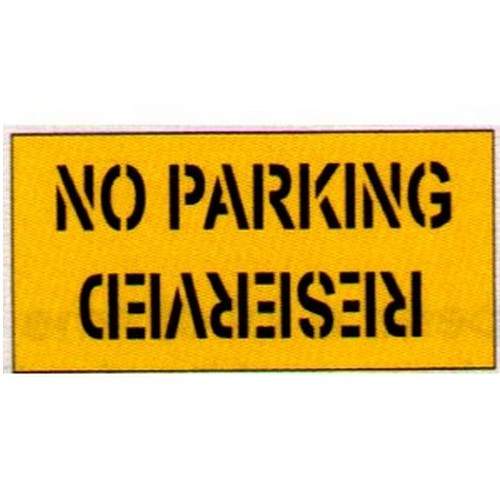 No Parking/Reserved Car Park Stencil