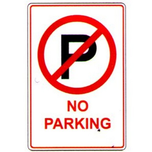 No Parking With Symbol Sign