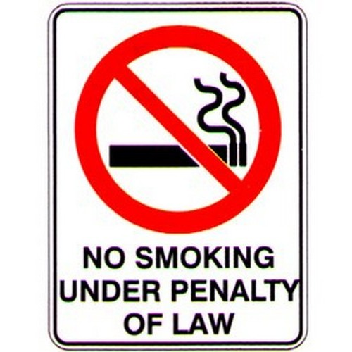 No Smok Under Penalty Of Law Sign