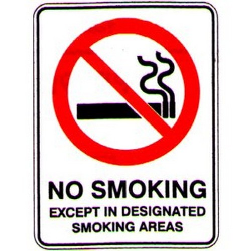 No Smoking Except In Sign