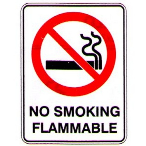 No Smoking Flammable Sign