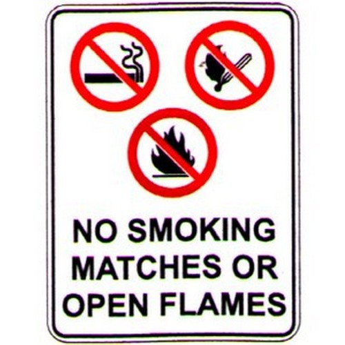 No Smok Matches Or Sign