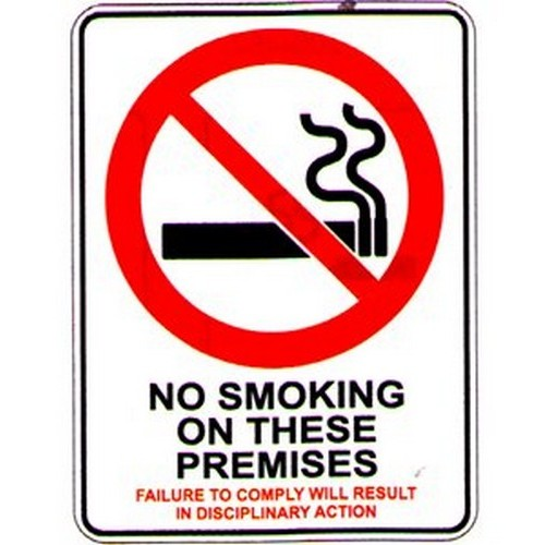 No Smoking On TheseFailure Sign