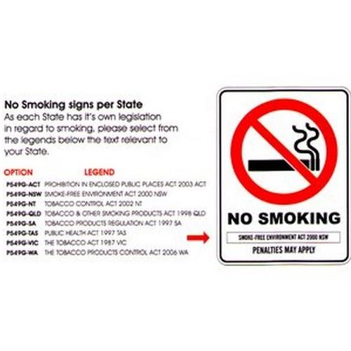 No Smoking PENALTIES May Sign