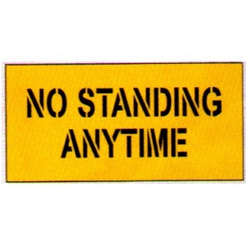 No Standing Anytime Car Park Stencil