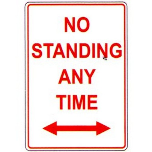No Standing At Any DArrow Sign