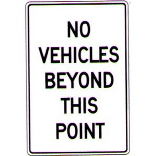 No Vehicles Beyond This Sign