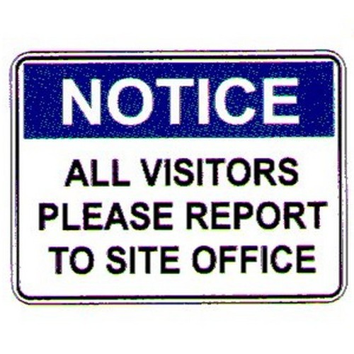 Notice All Visitors Please Sign