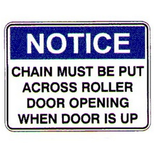 Notice Chain Must Be  Sign