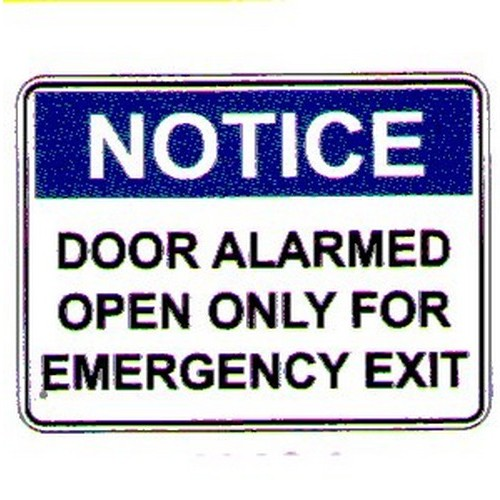 Notice Door Alarmed Open Labels