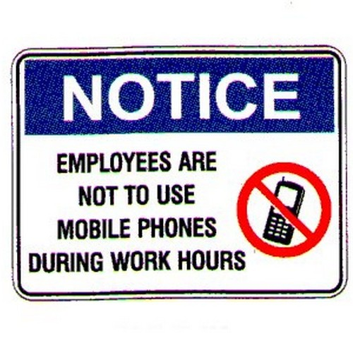 Notice EmployeesPhones Sign
