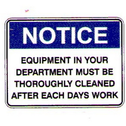 Notice EquipIn Your DeptSign