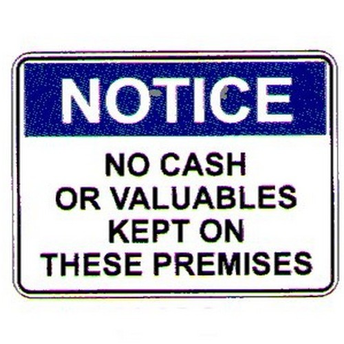 Notice No Cash Labels