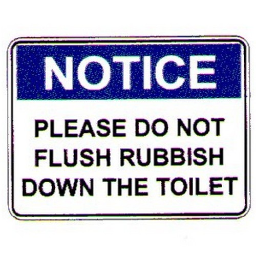 Notice Please Do Not Flush Sign