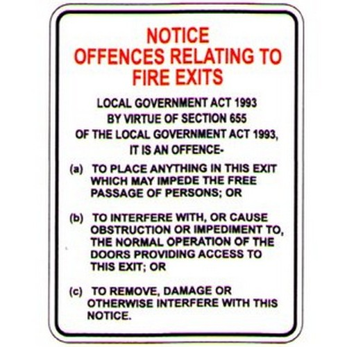Notice Relating Fire Ext Sign