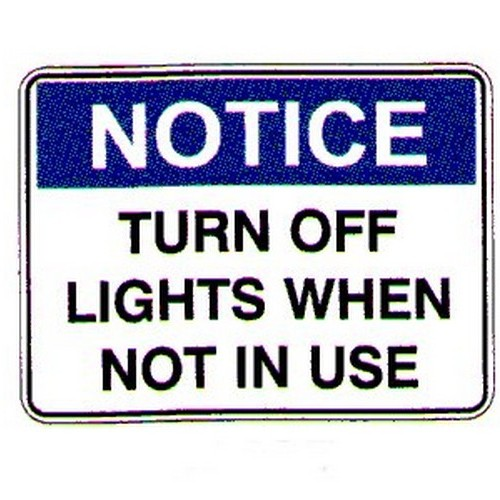 Notice Turn Off Light When Not Labels