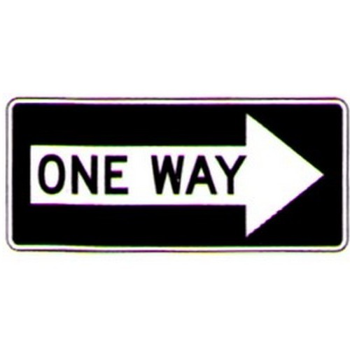 One Way In Right Arrow Sign